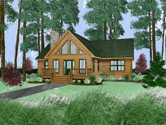 Pisgah IV Log Home Floor Plan