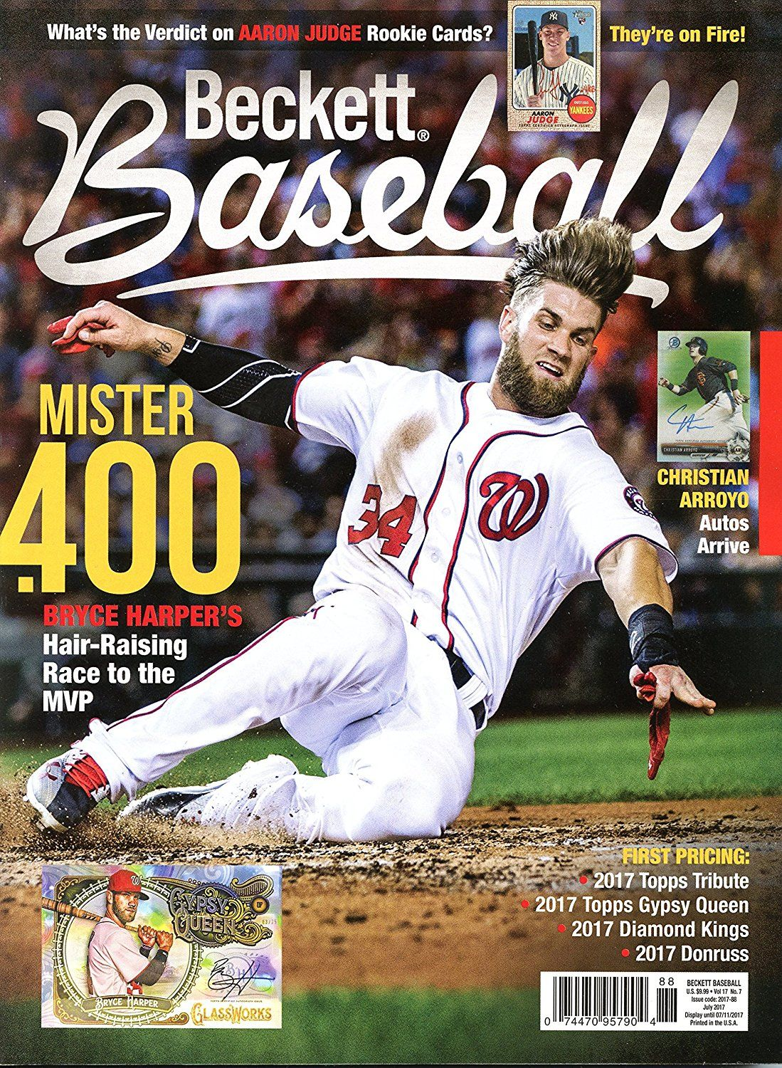 Amazoncom Beckett Baseball Monthly Price Guide Card Value