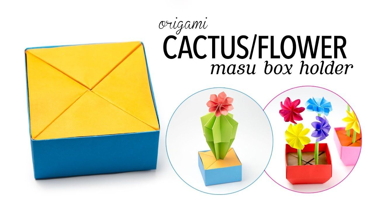 Origami cactus flower holder for masu box paper kawaii origami cactus flower holder for masu box paper kawaii mightylinksfo