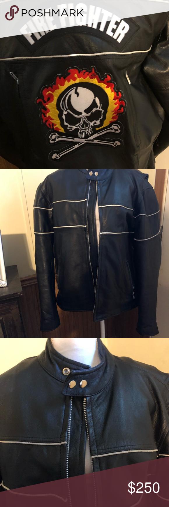 Hudson Leather Jacket New W O Tags Leather Jacket Firefighter Jacket Jackets [ 1740 x 580 Pixel ]