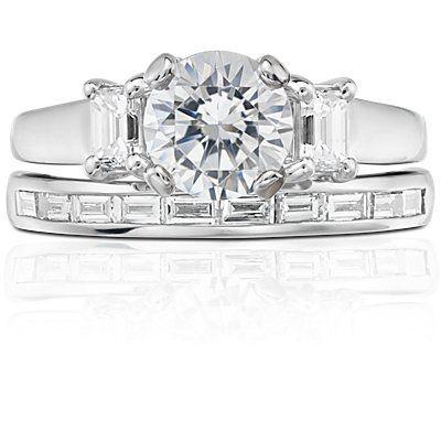 Zac Posen Truly Zac Posen Channel-Set Baguette Diamond Ring in Platinum (1/4 ct. tw.) gP9QDUPrSh