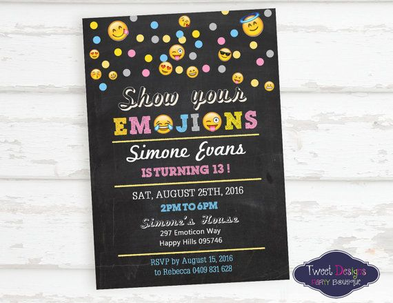 Important informationease read print yourself personalised please read print yourself emoji invitationsgirl birthday filmwisefo