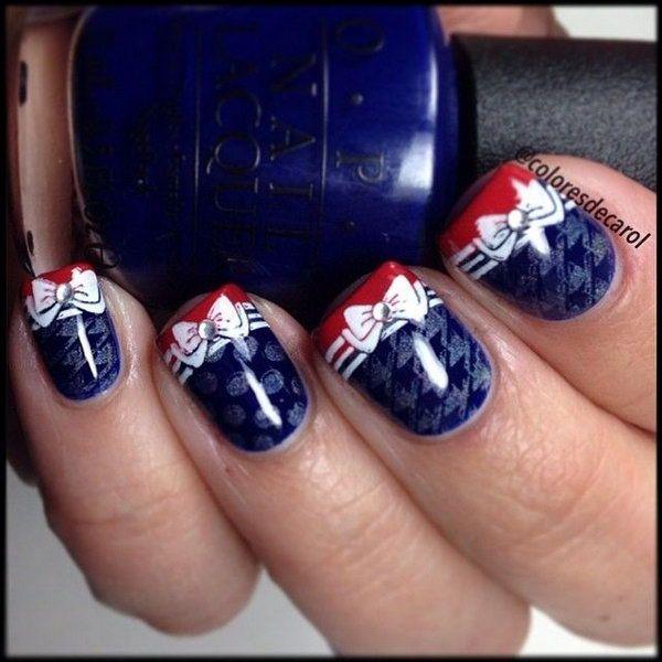 36 Cute 4th of July Patriotic Nail Art Ideas   French nails, Art ...