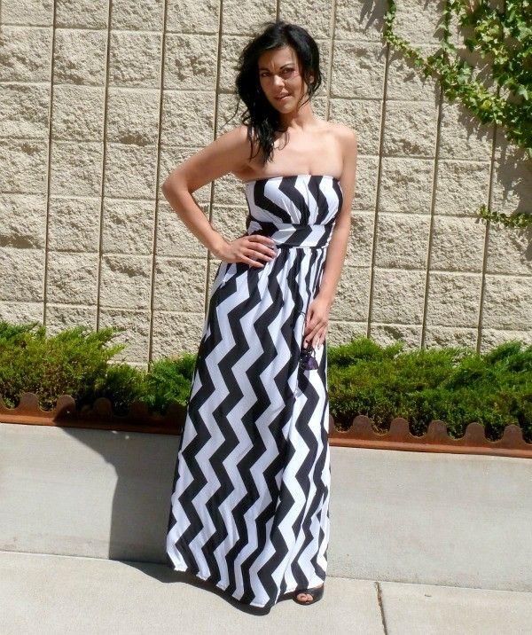 NanaMacs Vintage Boutique - Stunning Black Vertical Chevron Maxi Dress, $49.99 (http://www.nanamacs.com/stunning-black-vertical-chevron-maxi-dress/)