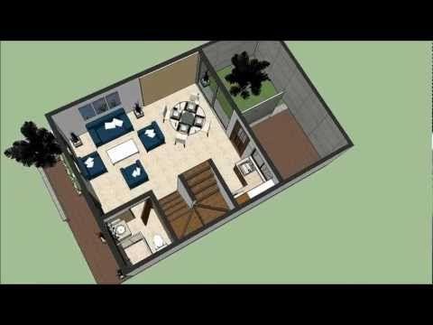 Planos gratis casa moderna 2 pisos m x m parte 1 for Casa moderna autocad