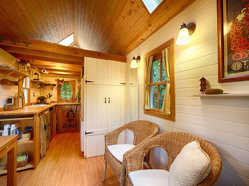 Small Home Decorating Ideas   Tumbleweed Tiny House   Country Living; The  Floor Is Made