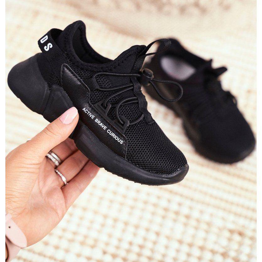 Sportowe Buty Dzieciece Mlodziezowe Czarne Abckids B012210073 All Black Sneakers Sneakers All Black