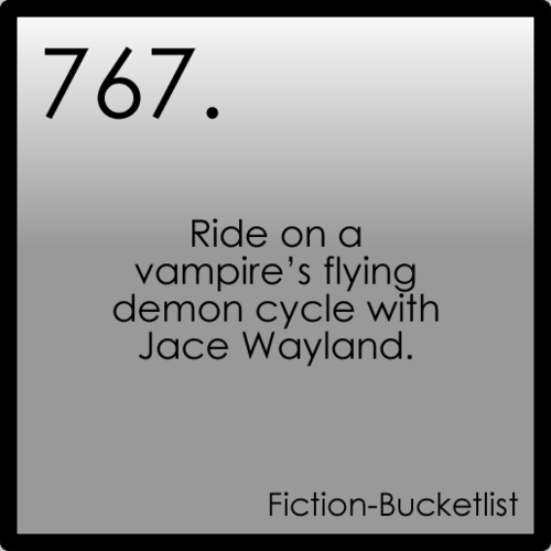 Ride on a vampire's flying demon cycle with Jace Wayland. - The Mortal Instruments