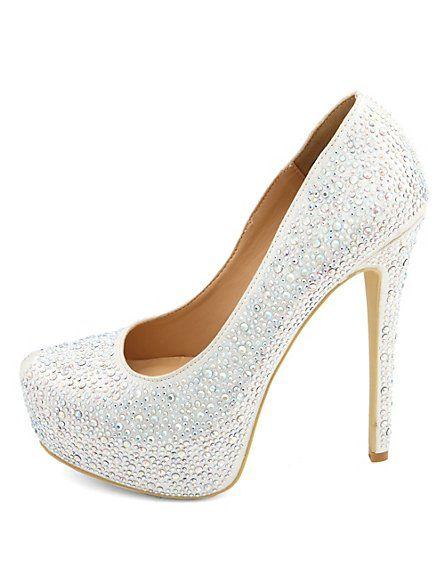 a0d12cb0a3 Diamond Princess Rhinestone Platform Pumps   ShOeSseESss   Zapatos ...