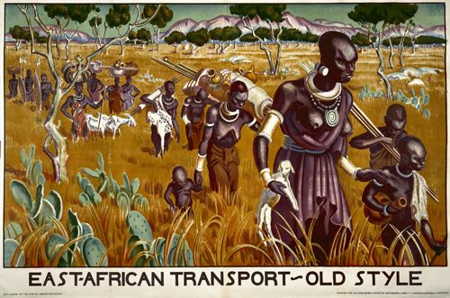 East African Transport Old Styleu0027, by Adrian Allinson, from the - Dr Livingston I Presume