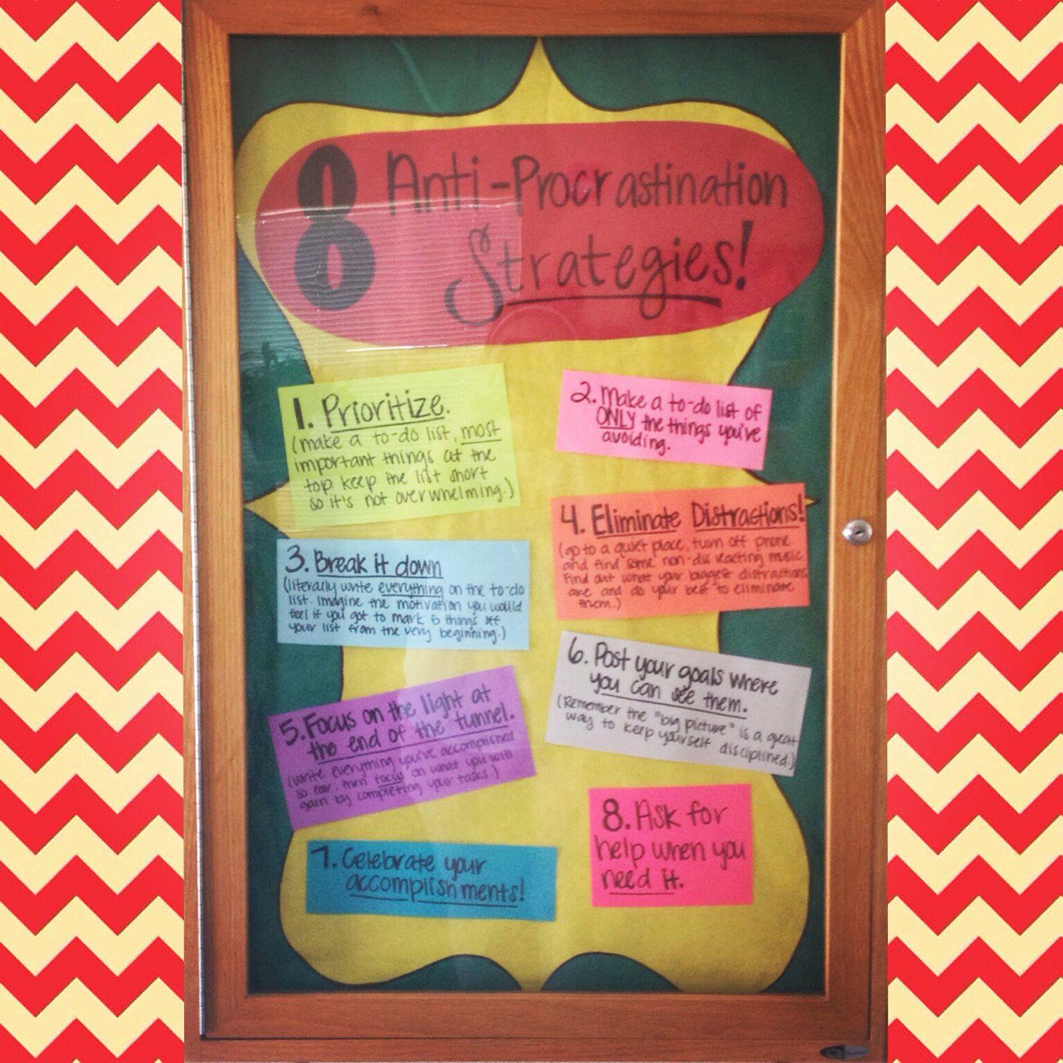 My September Bulletin Board 8 Anti Procrastination