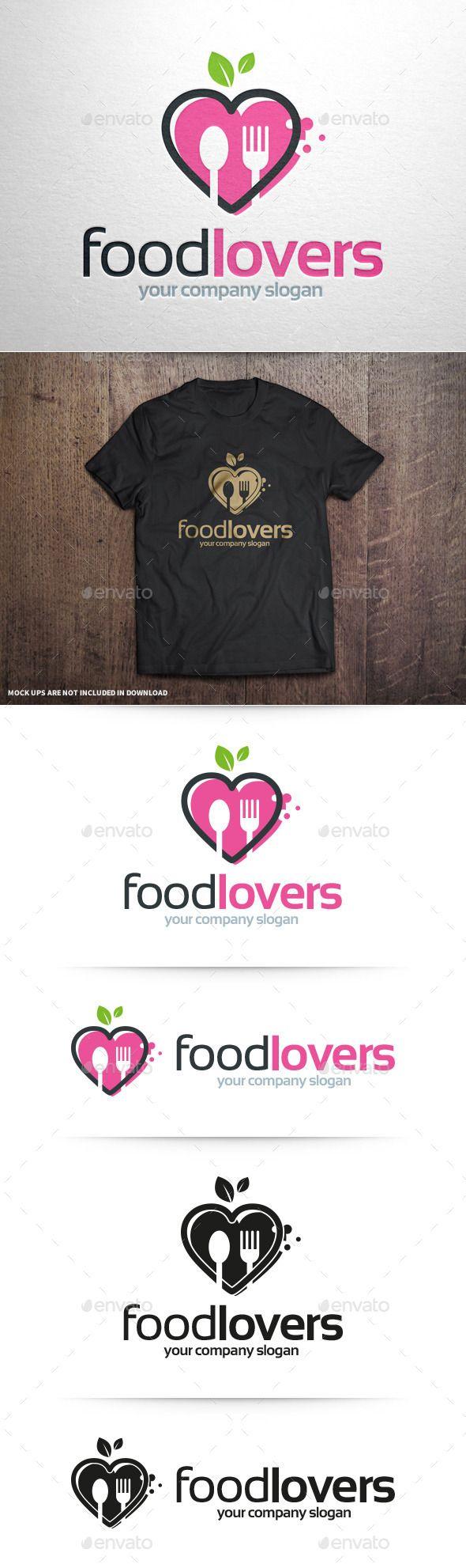 Food Lovers Logo Template (AI Illustrator, Resizable, CS