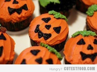 Cute Halloween Mini Cupcakes.Hallo Pumpkins Halloween Desserts Halloween Cupcakes Halloween Cupcakes Decoration