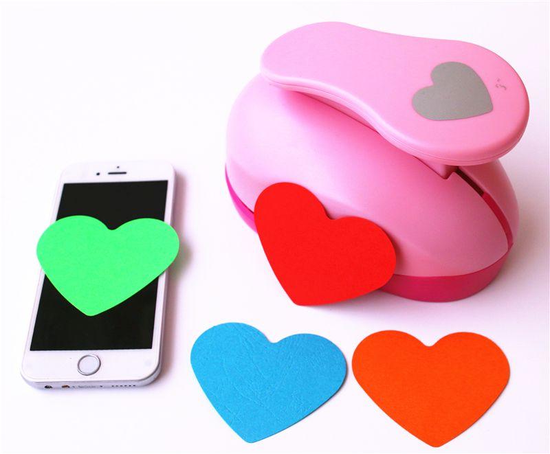Mini Heart Hole Punch Embossing Paper Cutter Scrapbooking Card Craft DIY Puncher