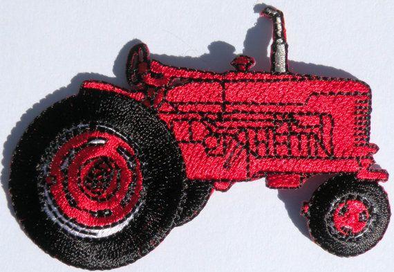 Big Red Farm Tractor Clothing Patch Farming by CedarCreekPatchShop