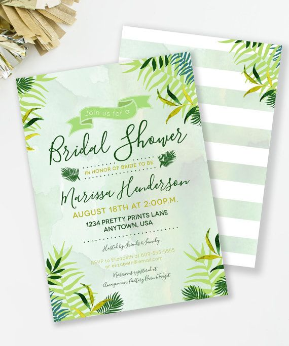 Tropical bridal shower invitation this botanical invite is perfect tropical bridal shower invitation this botanical invite is perfect for a summer bridal shower or filmwisefo Image collections