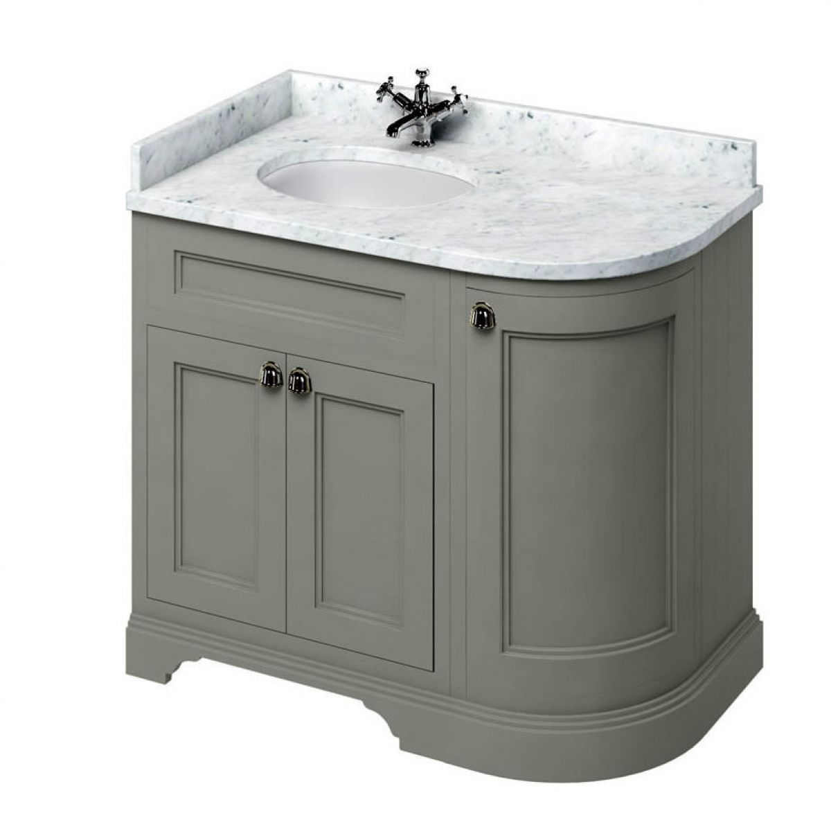 Burlington 100 Curved Vanity Unit Uk Bathrooms For Proportions 1200 X 1200 Bathroom Vanity Unit Workt Sink Vanity Unit Black Marble Bathroom Corner Vanity Unit