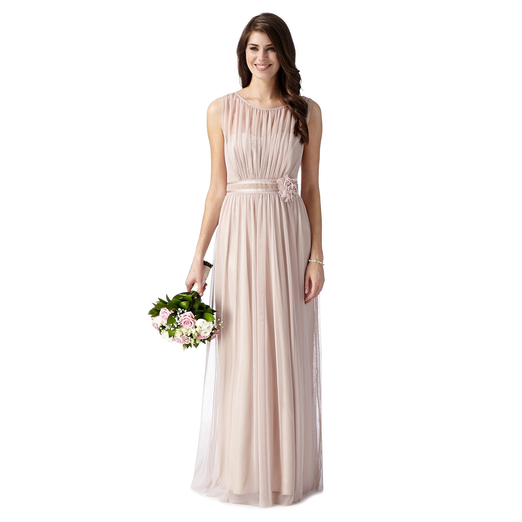 Pale pink mesh corsage maxi dress bridesmaid dresses debenhams pale pink mesh corsage maxi dress bridesmaid dresses debenhams ombrellifo Gallery