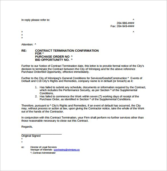 Redundancy Termination Letter Pdf Template Free Download Appeal