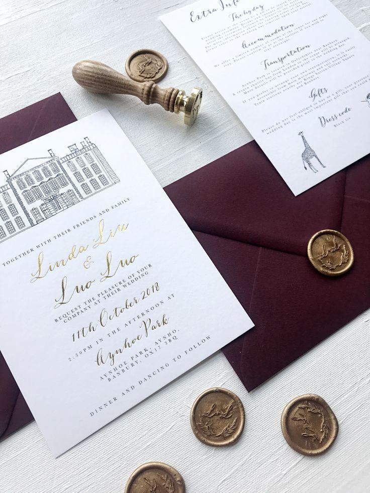 Venue Illustration Wax Seals Gold Foil What Could Be Be Wedding Invitations Rustic Vintage Scottish Wedding Invitations Wedding Invitations Rustic Elegant
