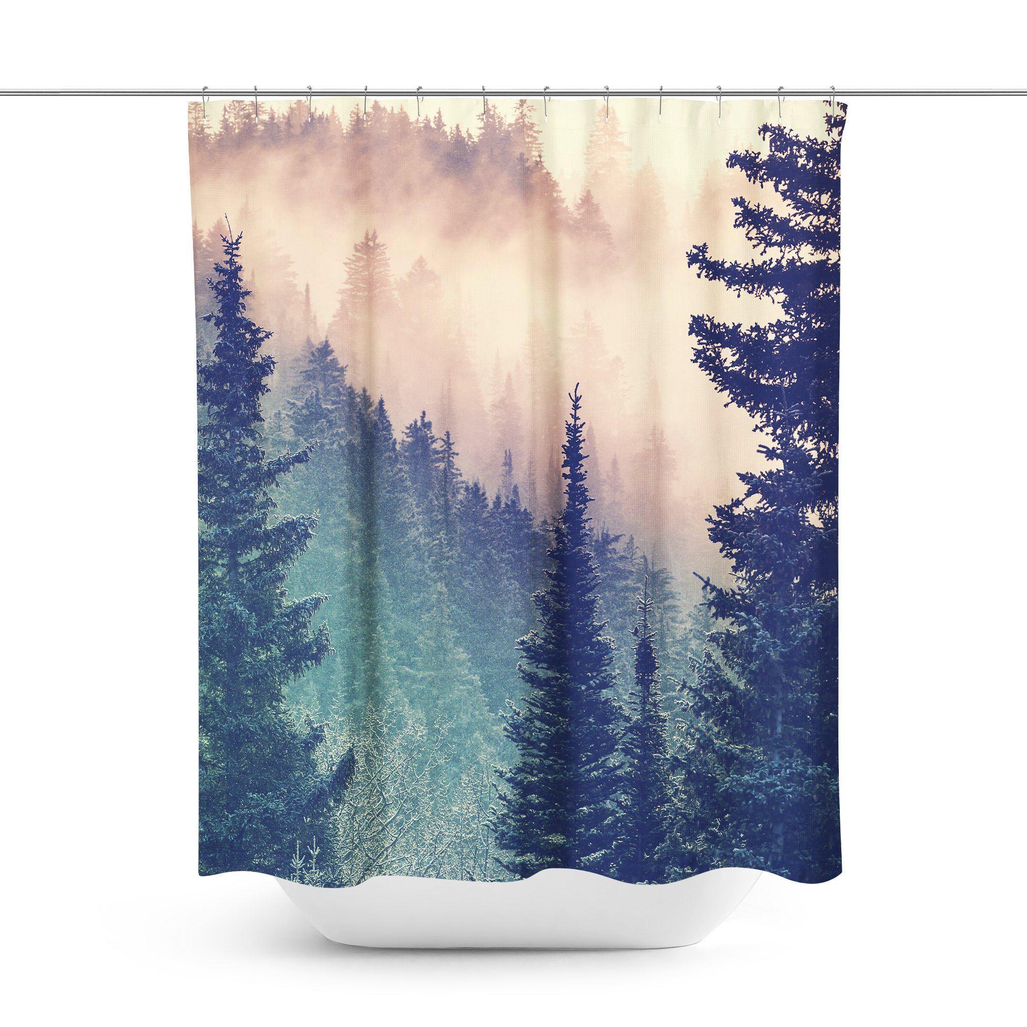 Wilderness Forest Shower Curtain Curtains Curtain Shop Modern
