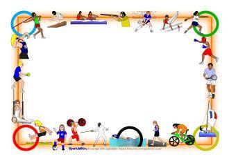 Olympics A4 page borders SB1498  SparkleBox  Escuela bordes de pginas   Page borders