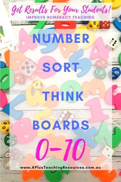 Number Think Board templates Number Recognition 0-10 kindergarten