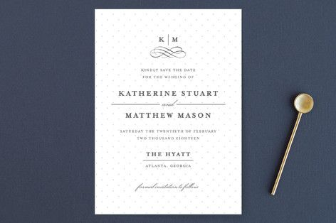 """""""A Glamorous Affair"""" - Elegant, Formal Save The Date Cards in Gold by Kristen Smith."""