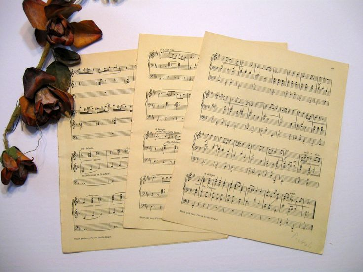 Music Sheets Wedding Paper Vintage Sheet Music Music Sheet Paper 7 Sheets Distressed Aged Some Faded which adds to the Interest #vintagesheetmusic