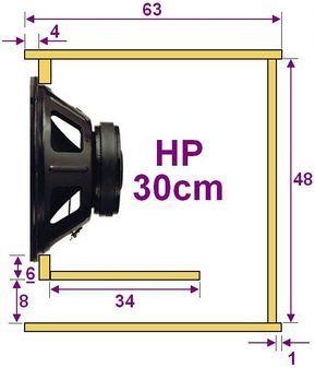 plan caisson de basse pour haut parleur 30cm 2. Black Bedroom Furniture Sets. Home Design Ideas