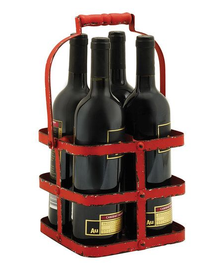 True Fabrications Rustic Wine Bottle Caddy | zulily
