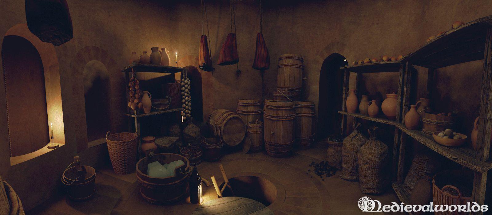 Medieval Castle Kitchen Architecture