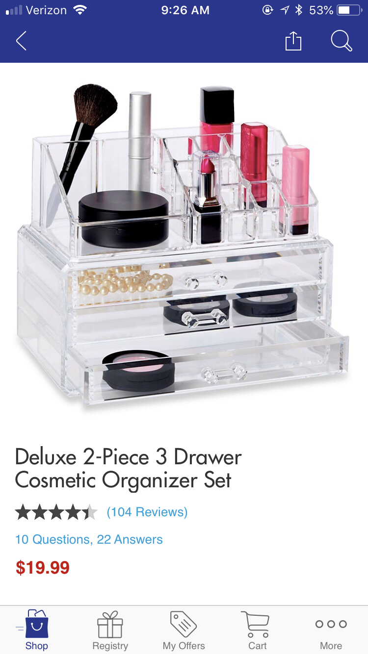 Deluxe 2 Piece 3 Drawer Cosmetic Organizer Set How To Apply Makeup Cosmetic Organizer Makeup Tools