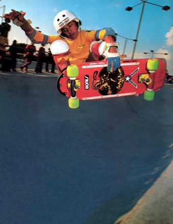 Young Steve on some vert