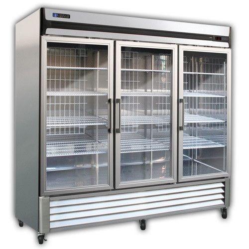 Master Bilt Mbr72 G 78 Fusion 3 Section Full Glass Door Refrigerator Glass Door Refrigerator Glass Door Sliding Glass Doors Patio