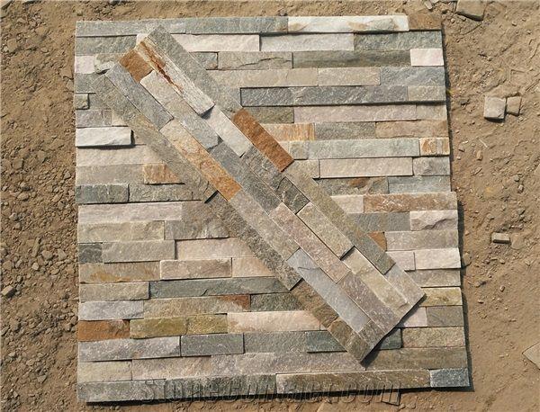 P014 Slate Wall Stone Cladding Corner Prices Cultured Stone Stacked Stone Veneer Walls Ledge