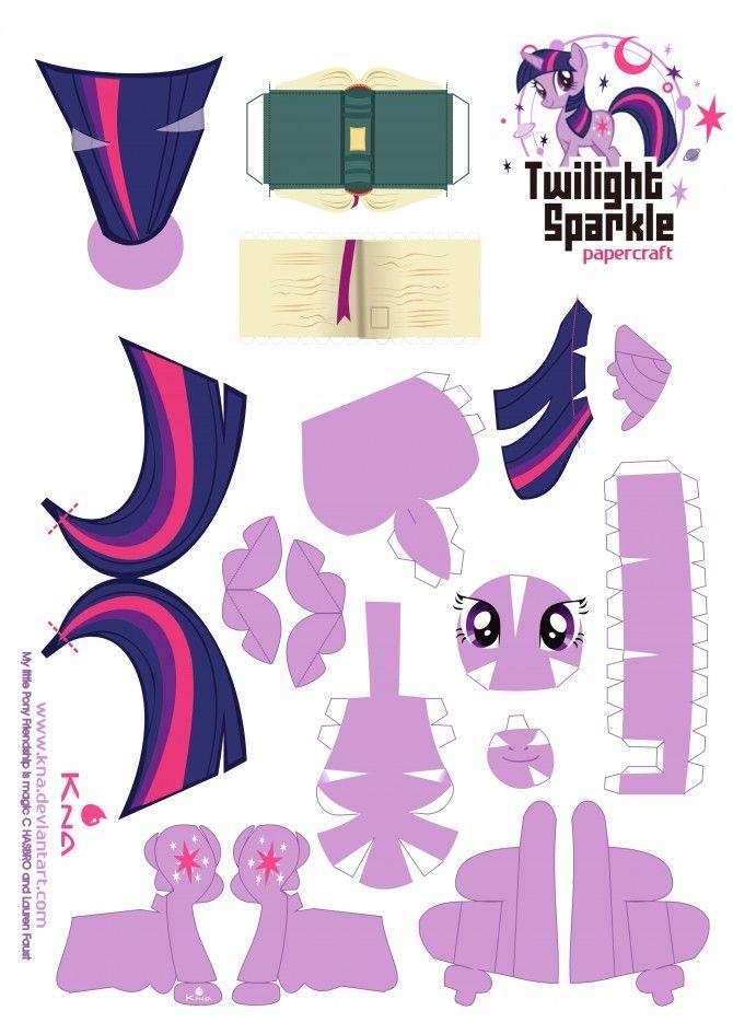 Twilight Sparkle My Little Pony Papercraft Mlp Pinterest