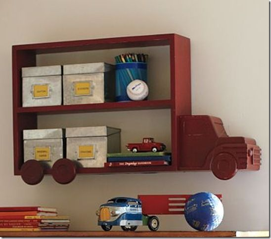 Truck Shelf Knock Off Decor Boys Room Decor Kids Room Design