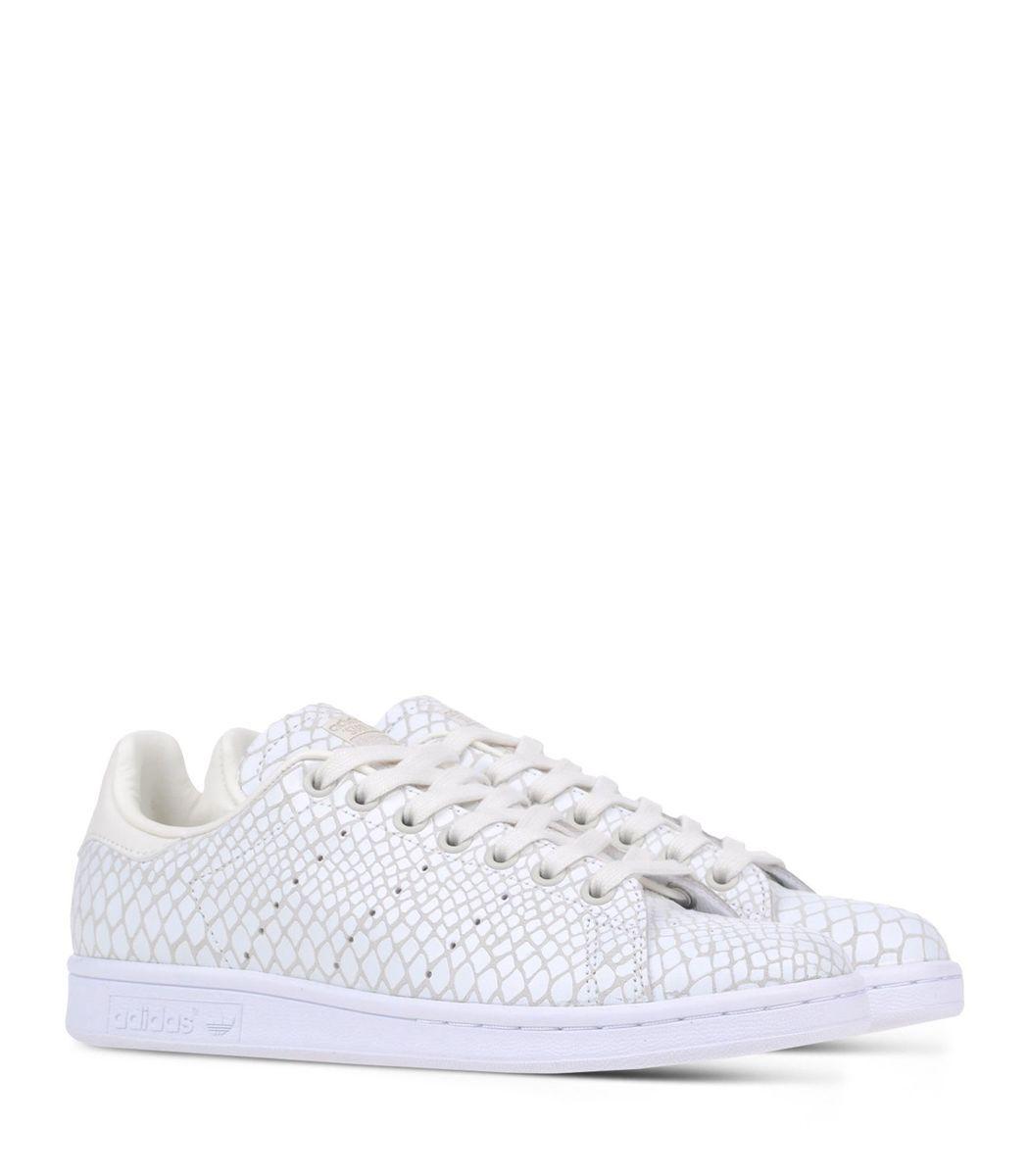 size 40 959fa 4a784 Adidas Originals White Scale Print  Stan Smith  Sneaker