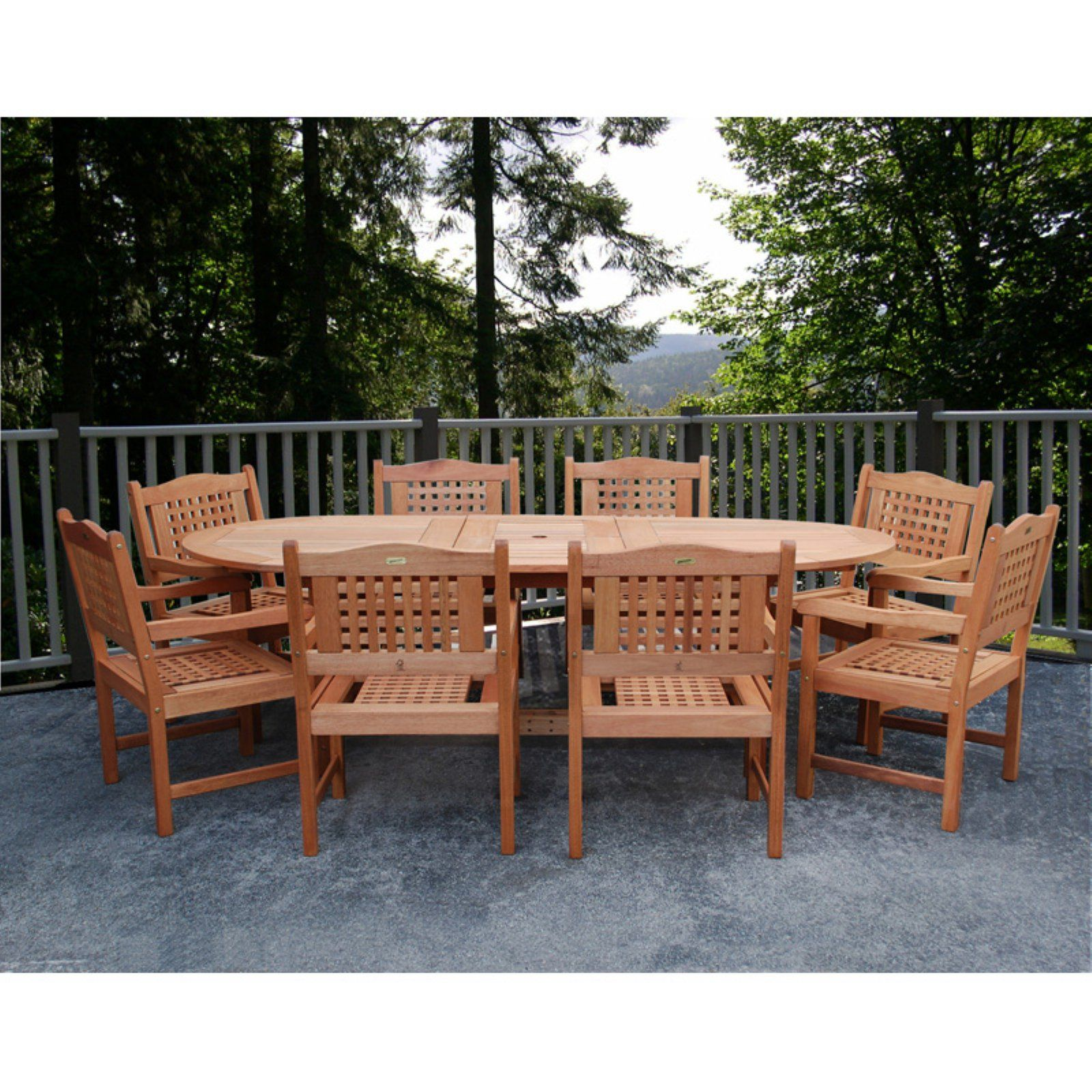 Outdoor Amazonia Porto Grand Extendable Eucalyptus Dining Set
