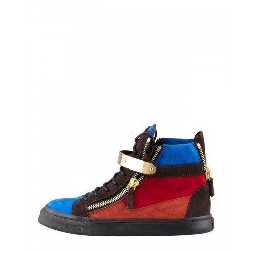 wholesale dealer f908f a979b Röd Sneakers Pinterest Dame Sko Giuseppe Zanotti GZ Blå Herr