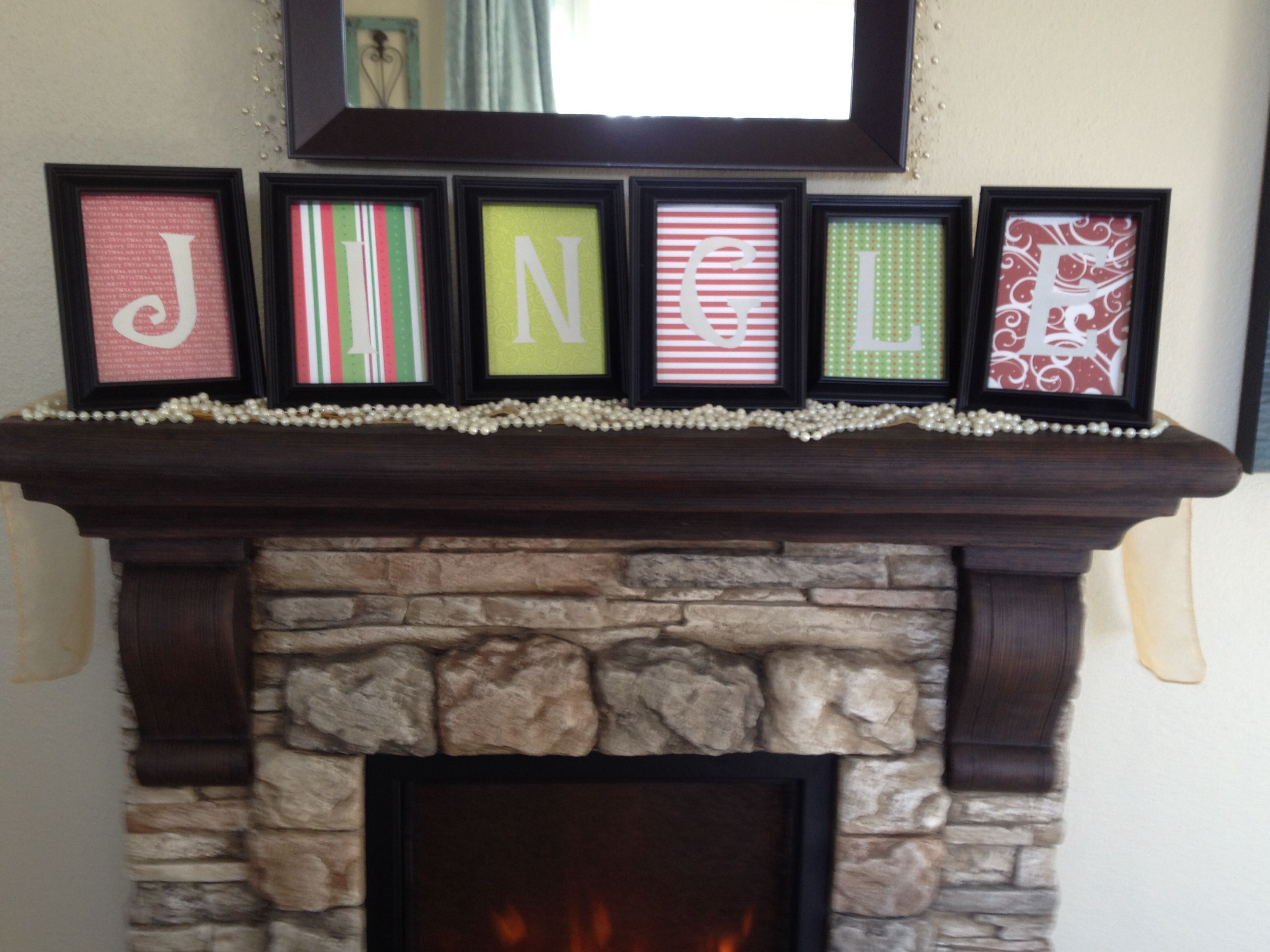 Scrapbook paper, stencils, and picture frames from Walmart ...
