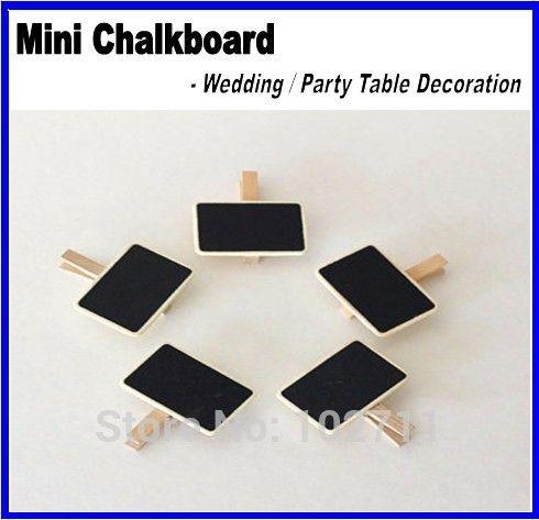 Gratis verzending houten schoolbord schoolbord pinnen, schoolbord clips-wedding tafeldecoratie, plaats instelling, Party favor(China (Mainland))