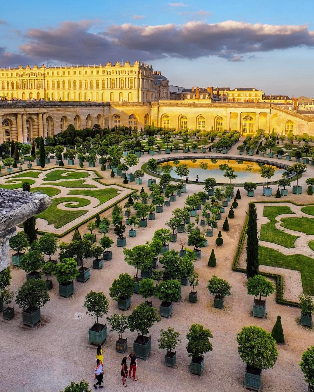 Golden Light In Versailles Gardens Lugares Hermosos Oman Paisajes