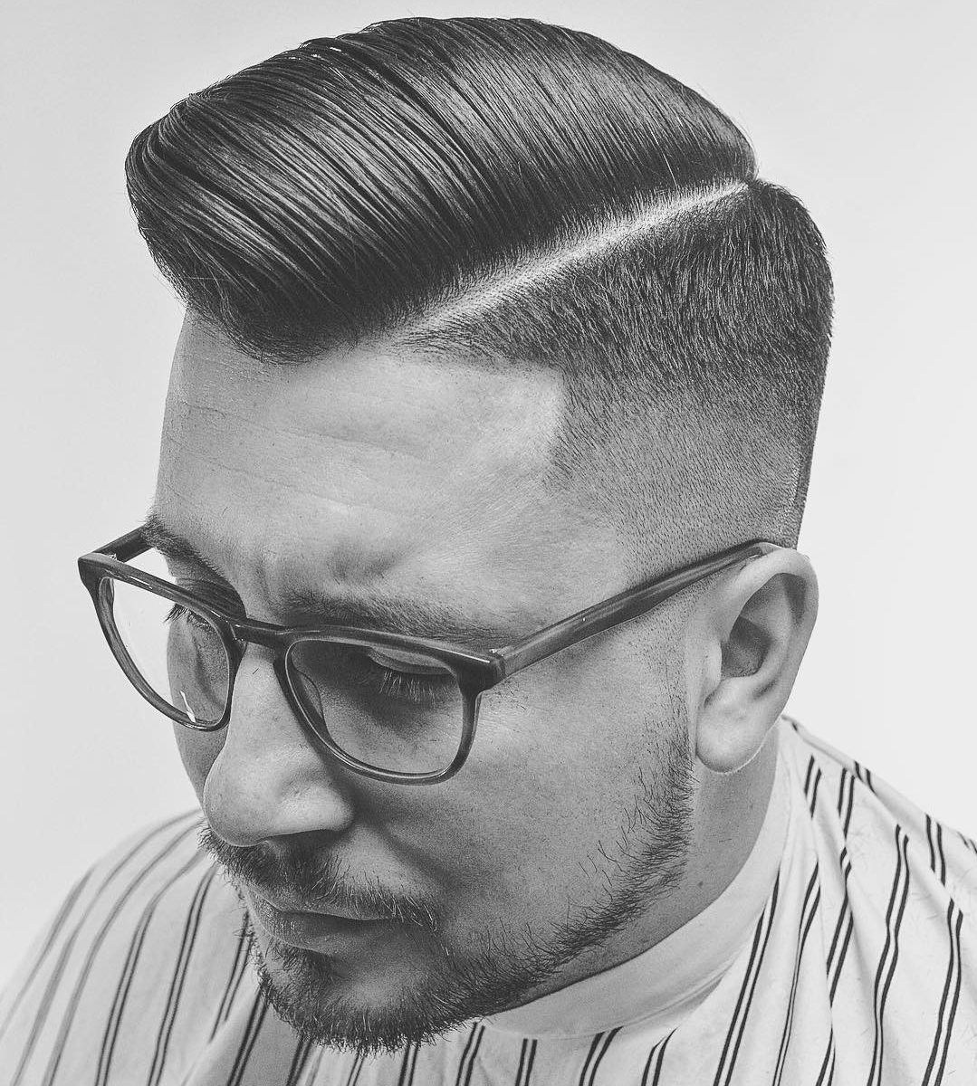 Pompadour fade haircuts pompadour fade fade haircut and pompadour originally popular in the 1950s the pompadour has since been been updated for the 21st urmus Image collections