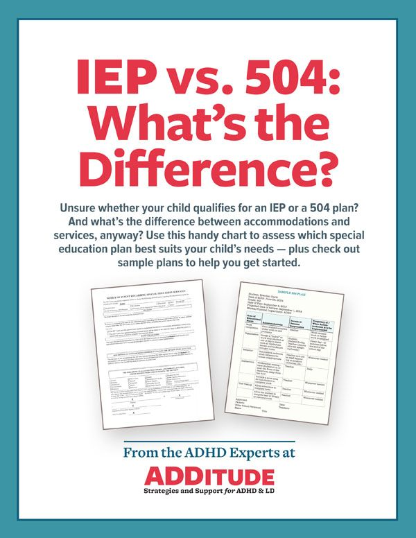 IEP vs. 504: School Laws & Learning Accommodations ...