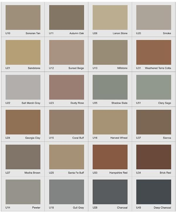 Integral Color Concrete Walls : Uni mix integral concrete colorant color chart a small