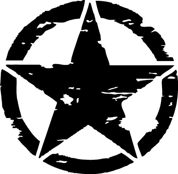 Weathered Army Star Decal Sticker Star Decals Star Vinyl