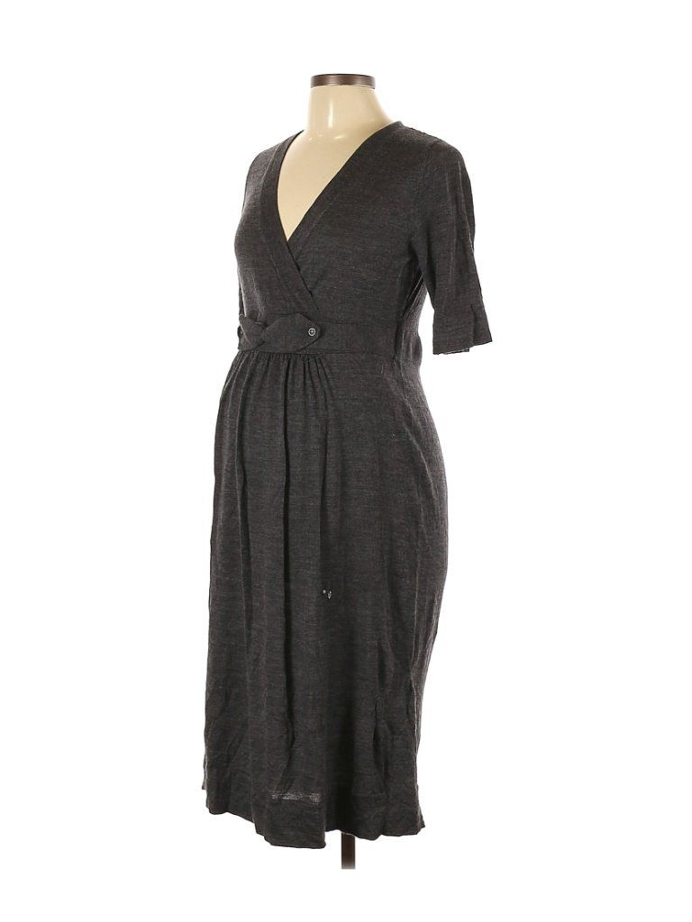 A Pea In The Pod Casual Dress Midi Gray Solid Dresses Used Size Large Maternity In 2021 Dresses Maternity Dresses Casual Dress [ 1024 x 768 Pixel ]