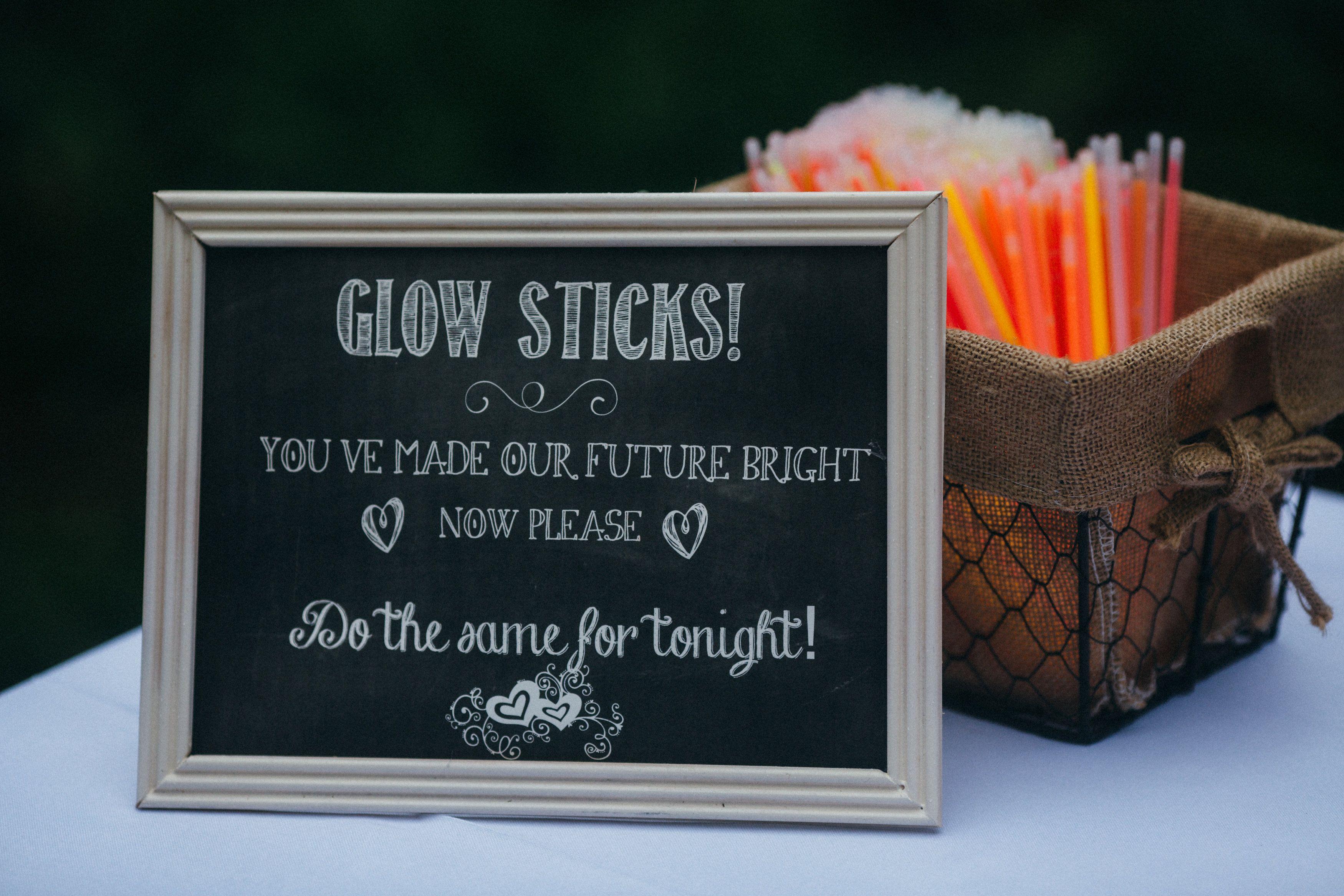 Glow stick sendoff Glow stick wedding, Wedding send off